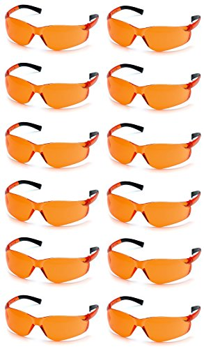 Pyramex Ztek Safety Glasses Orange Lens S2540S (12 Pair (Orange Lens Safety Glasses)