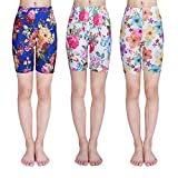 IRELIA 3 Pack Girls Bike Shorts Print Underwear for School Size 6-16 04 L