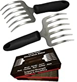 Cave Tools Pulled Pork Shredder Claws - STAINLESS STEEL BBQ MEAT RAKES - Shredding Handling & Carving Food From Grill Smoker or Slow Cooker - Metal Barbecue & Crock Pot Handler Accessories by