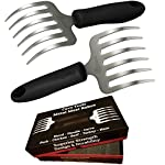 Cave Tools Pulled Pork Shredder Claws – Stainless Steel BBQ Meat RAKES – Shredding Handling & Carving Food from Grill Smoker or Slow Cooker – Metal Barbecue & Crock Pot Handler Accessories