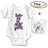 POOPEDD Take Me To Nyc Unisex Baby Short Sleeve Onesies Romper Bodysuit Outfits
