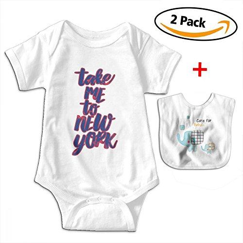 POOPEDD Take Me To Nyc Unisex Baby Short Sleeve Onesies Romper Bodysuit Outfits by POOPEDD