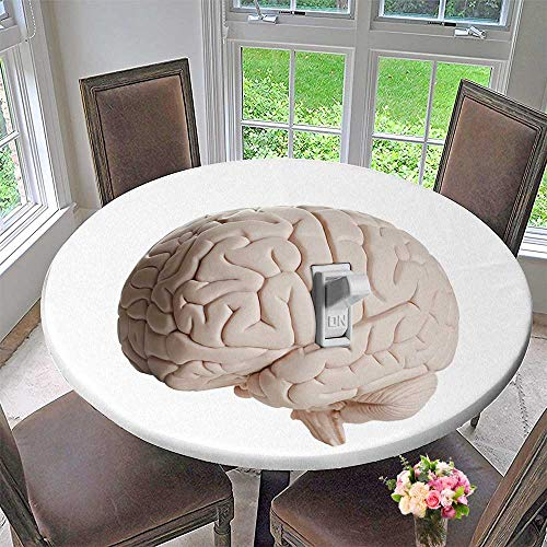 (PINAFORE HOME Round Tablecloth Brain Power Brain Model with a Light Switch for Kitchen 67