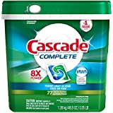 Cascade Complete Actionpacs Dishwasher Detergent, Fresh, 77 Count -Old version