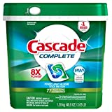 Image of Cascade Complete Actionpacs Dishwasher Detergent, Fresh, 77 Count