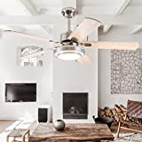Andersonlight Fan 52″ LED Indoor Stainless Steel Ceiling Fan with Light and Remote Control For Sale