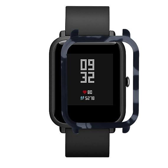 Xiaomi huami amazfit bip Younth reloj elegante Case Cover, bescita camuflaje PC Carcasa proteger Carcasa