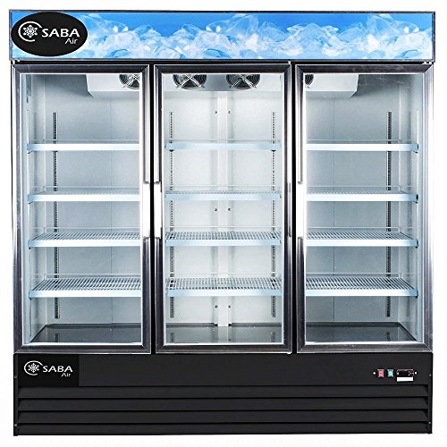 Price comparison product image Saba Air SGDM72F Three Door Merchandiser Freezer