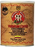 Reggie's Roast Colombia Excelso Whole Bean Coffee, 12-Ounce Cans (Pack of 4)