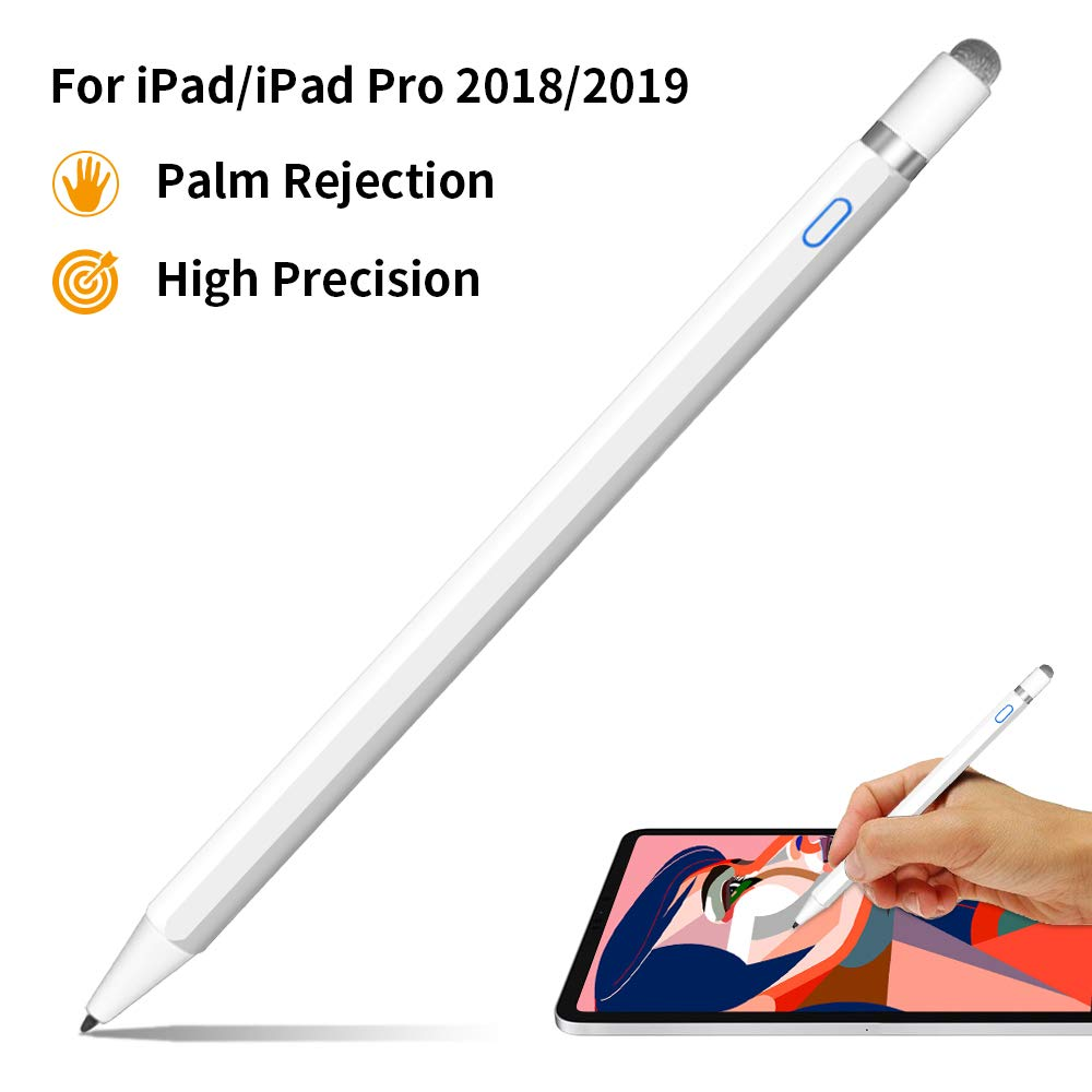Stylus Pen 2nd Gen with Palm Rejection, iSkey High Precise Stylus Pen for Writing & Drawing Compatible with iPad (7th Gen)/(6th Gen), iPad Pro 11/12.9 Inch, iPad Air(3rd Gen), iPad Mini(5th Gen) by iSkey