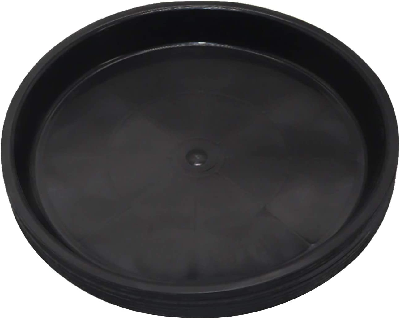 12 pcs Round Plastic Flower Pot Tray, Black Plant Tray, Plant Pot Saucer Tray for Indoor and Outdoor Plants, Potted Drip Tray (6.1inch)