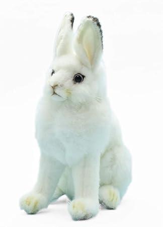 1b1c59c3004 Plush Soft Toy White Rabbit (Snow Arctic Hare) 15cm by Hansa. 5842 ...