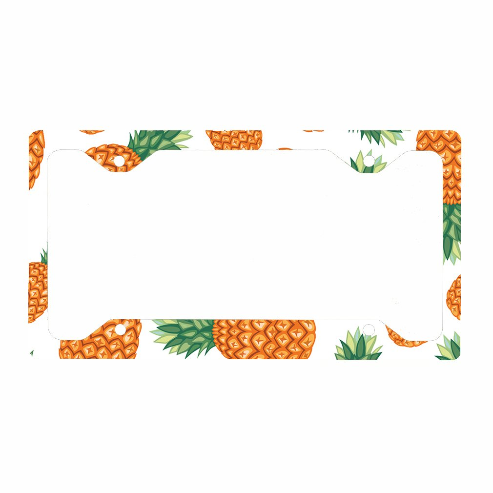 Style In Print Pineapple Auto Car License Plate Frame Tag Holder