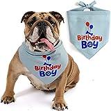 JOYLOADER Dog Birthday Bandana Boy - Dog Birthday Party Supplies - Birthday Boy Dog Bandana - Ideal Birthday Gift Idea for Pet