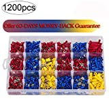 1200Pcs Assorted Crimp Terminals, Wire Connectors, Mixed Assorted Lug Kit, Spade Ring Set for Automotive, Electrical Wirings, LED Lighting, Home DIYer(Color: Red, Blue Yellow) Eagles(TM)