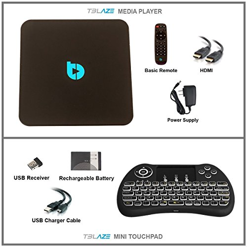 Tblaze Android TV Box Amlogic S912 Octa-core CPU 64-Bit 4K/3D/2GB/16GB AC Wireless Dual Band WiFi 2.4GHz/5GHz Ready To Stream Media Center,Keyboard Remote,Updated Version Realtime Firmware Updates by Tblaze (Image #6)
