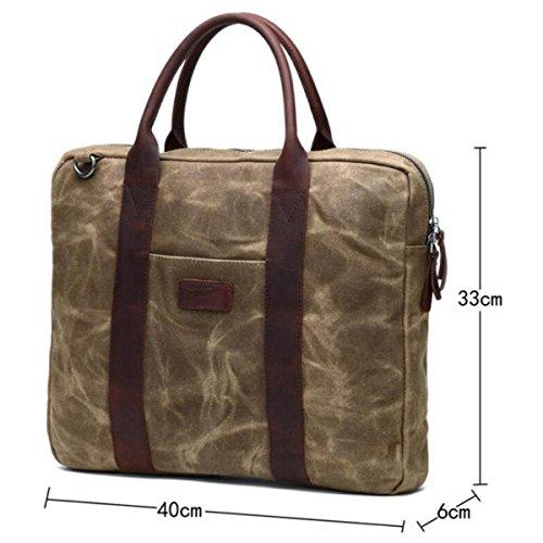 Haoxiaozi Bag Armygreen Computer Bag Men Armygreen Retro Canvas Bag FIrcqywgF