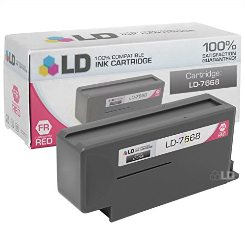 LD Compatible Replacement for Pitney Bowes Fluorescent Red 766-8 inkjet cartridge for DM800 and (Pitney Bowes Replacement)
