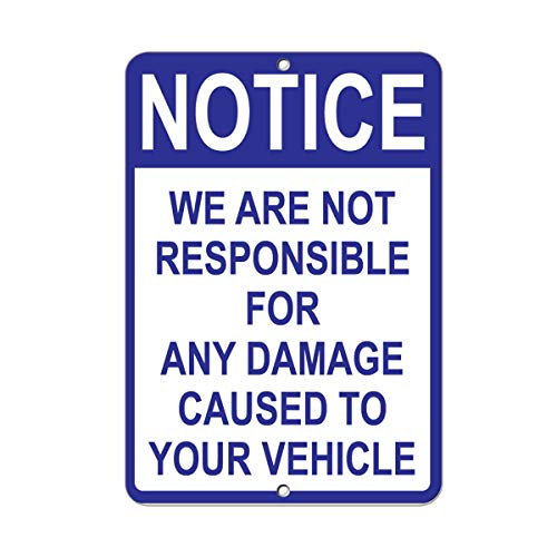 """We are Not Responsible for Any Damage Caused to Your Vehicle Vinyl Sticker Decal 8"""""""
