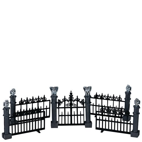Lemax Miniature Spooky Town Halloween Gargoyle Fence (Set of 5) -