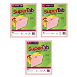 Smead SuperTab Notes Folder, Oversized 1/3-Cut Tab, Letter Size, Assorted Colors, 12 per Pack, 3 Pack, 36 Folders Total (11650) - Bundle Includes a Letter Opener