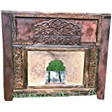 Mogul Interior Antique Stone Top Console Table, entry way, accent table, eclectic, rustic, Jaipur Furniture India