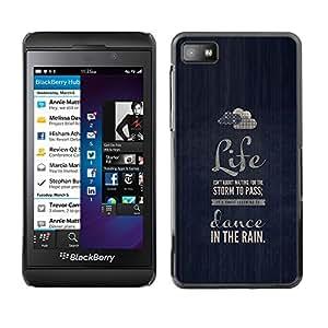 TaiTech/Carcasa rígida - azul - Blackberry Z10 Bailemos lluvia nube