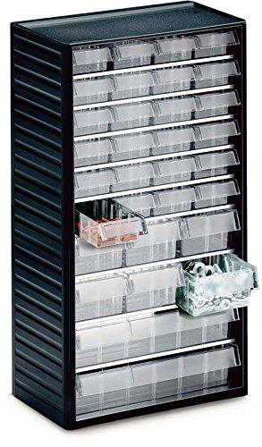 Treston 550C-3 Kleinteilemagazin Serie 550 mit 32 Schubladen glasklar TF1014
