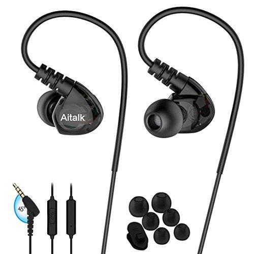 Fitness Earbuds, E260 Stereo Bass Sweatproof Earhook Headpho