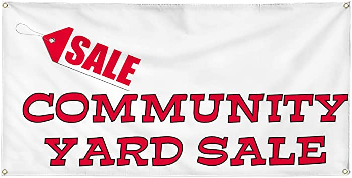 Vinyl Banner Multiple Sizes Sale Community Yard Business Outdoor Weatherproof Industrial Yard Signs 8 Grommets 48x96Inches