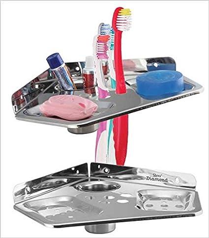 Bedi Royal NO. 72 S.S 5 in 1 Toothbrush Corner Holder