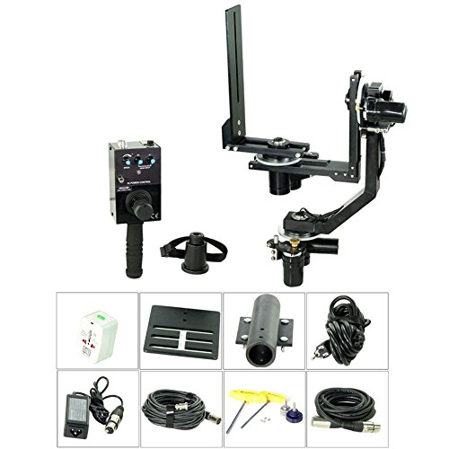 PROAIM Spin-3 (3-Axis) Motorized Dutch Roll 360° Pan Tilt Head for Video DSLR Cinema Camera Camcorders up to 15kg/33lb with Joystick Control System   for Jib Crane Tripod + Storage Bag (PT-Spin-3)
