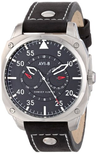 AVI-8 Men's AV-4009-02 Hawker Hunter Analog Japanese-Quartz Black Watch