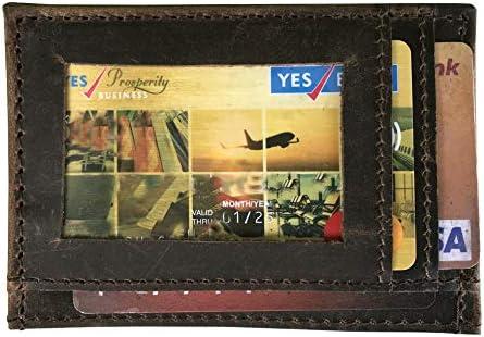 Men's Card & ID Cases | Men's Slim RFID Blocking Card Case | Card Holder |  Leather Card Case | Leather Slimest Minimalist Wallet