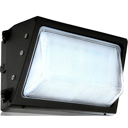 LED Wall Pack with Dusk-to-Dawn Photocell, 40W Waterproof Outdoor Commercial Lighting Fixture, 150-250W HPS/MH Replacement, 5000K 4500lm 100-277Vac