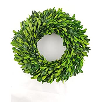 "Preserved Boxwood Wreath - 10"""