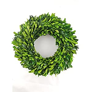 "Tradingsmith Preserved Boxwood Wreath - 10"" 75"