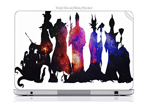 Trendy Accessories Laptop VINYL DECAL Sticker Skin Print Villains United Silhouettes Artwork fits MacBook 12-inch (2015 Retina -