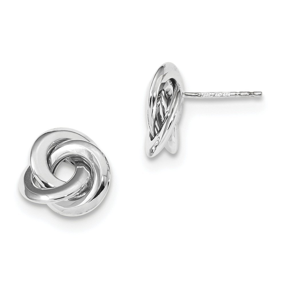 14kt White Gold Polished Love Knot Post Earrings