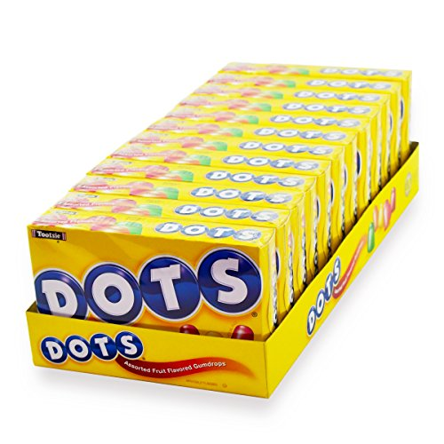 DOTS Assorted Fruit Candy, Twelve 6.5 Oz. Boxes, 4.9 lb, Colorful & Fruity for Easter Baskets