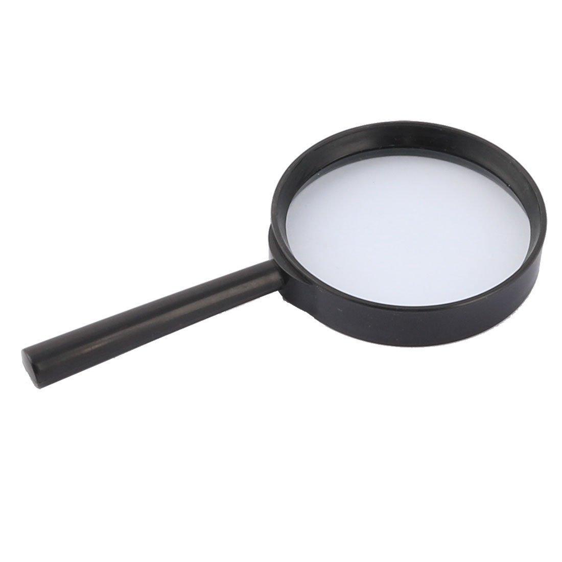 Amazon.com: eDealMax Mango de plástico DE 70 mm de diámetro de lente óptico 5X portátil Lupa Negro Claro: Health & Personal Care