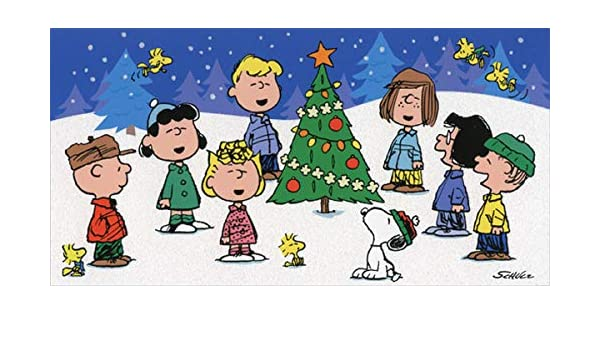 Christmas Singing Images.Amazon Com Peanuts Singing Around Tree Hallmark Christmas