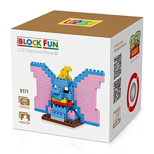 LOZUSA Elephant Cartoon Character 160 PCS Diamond Block Mini Figure Hero Micro Blocks Construction Model, Micro-sized Building Set Parent-child Games Building Blocks Children's Educational Toys