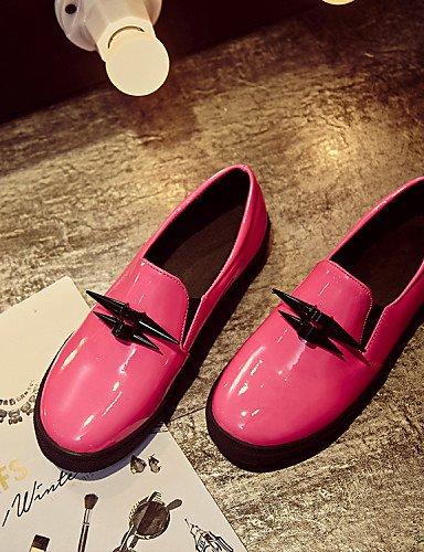Negro Cn43 Zq Gyht Casual Comfort Cuero 5 Cn4 Plano 10 Uk8 Mujer Eu42 5 Rosa Tacón Eu41 5 Pink Redonda De Mocasines Zapatos Uk7 us9 5 us10 Pink Punta Cn42 8 Patentado Exterior 66Bdqr
