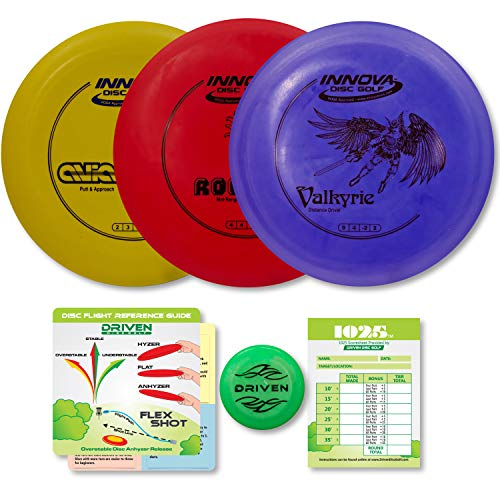 Driven Disc Golf Set - Innova Valk, ROC, and Aviar (Best Way To Throw A Frisbee Golf Disc)