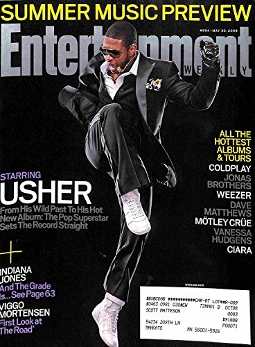 Entertainment Weekly, May 30, 2008, Usher (Summer Music Preview; Indiana Jones, Cold Play, Weezer, Ciara)
