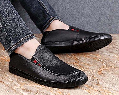 de Zapatos Moda Fondo Color de para Negocios Suave 41 Hombres Tamaño Zapatos Informales de Lok Fu nuevos Negro Negro Zapatos Zapatos wq07Ox6YT6