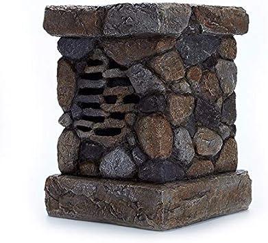 WENLONG - Altavoz Bluetooth inalámbrico con energía solar, para exteriores, jardín, simulación de piedra, resistente al agua, to - 1: Amazon.es: Deportes y aire libre