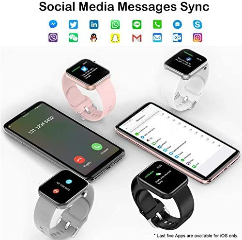 """Smart Watch Fitness Tracker with Blood Pressure Monitor Heart Rate Monitor for Android Phones iPhone Compatible, 1.54"""" IP67 Waterproof Activity Tracker for Women Men Sleep Monitor Medical Alarm 4"""