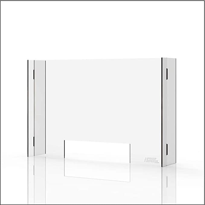 Suitable for Cashiers Checkout Counters Etc Counters Shops WLDD Counter Protective Screen Guard Sneeze Guard Shield Counter Screen 40x30cm Tables